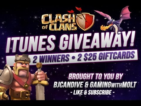Clash Of Clans - $50 Itunes Giveaway!
