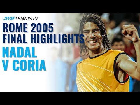 Rafa Nadal V Guillermo Coria: Rome 2005 Final Classic Highlights