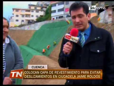 Colocan capa de revestimiento para evitar deslizamientos en ciudadela Jaime Roldós