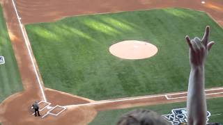World Series Game 3 - Opening Pitch: Nolan Ryan and Pudge Rodriguez