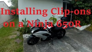 How to install Clip-ons - Ninja 650R