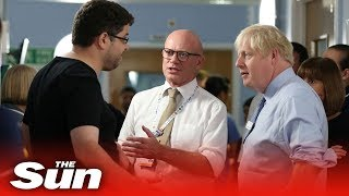 Boris Johnson confronted by furious father who railed against cuts to the NHS