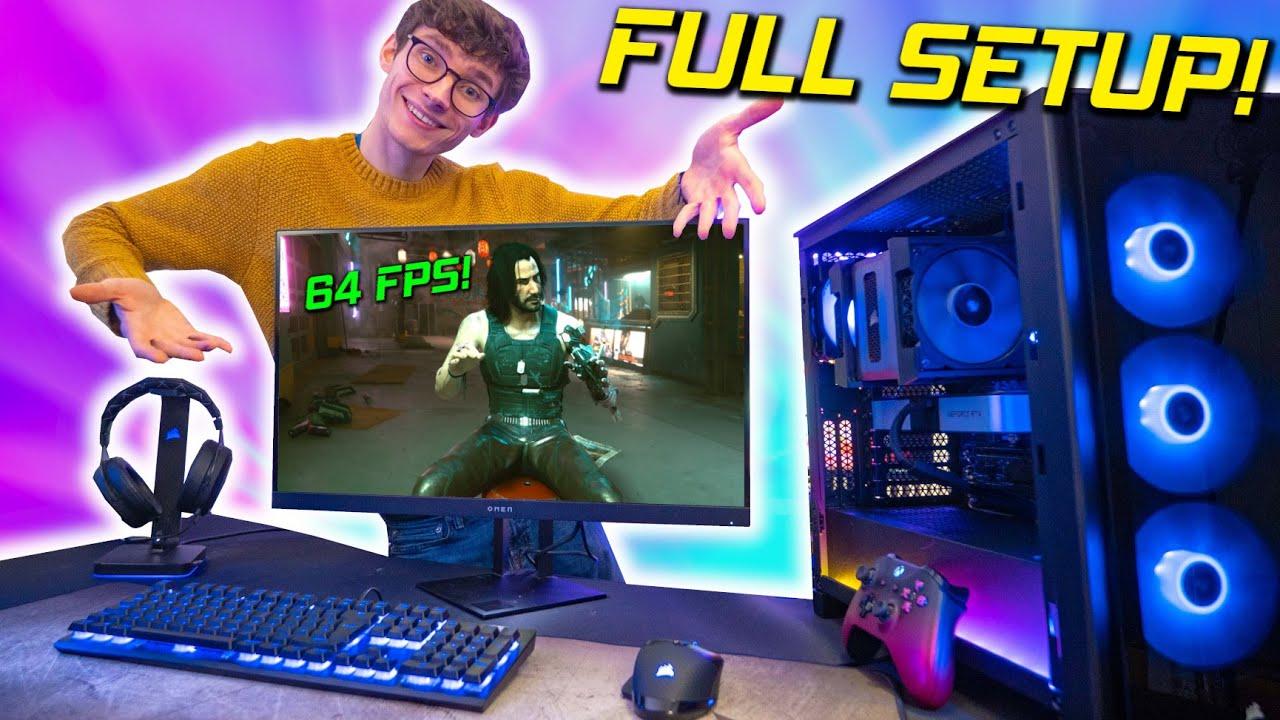 The DREAM RTX 3060Ti Gaming PC Build & Setup 2021! 🤤  (w/ Cyberpunk 2077 Gameplay Benchmarks)  | AD