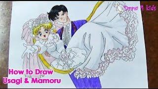 How to draw Usagi & Mamoru | D4K