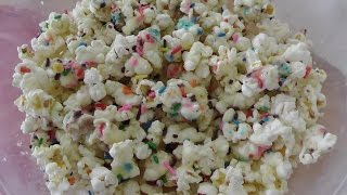 Birthday Cake Batter Popcorn By Kreative Krafts