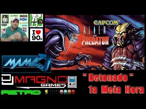 Alien vs  Predator  Arcade Game  Capcom® 1994 Detonado 1a Meia Hora
