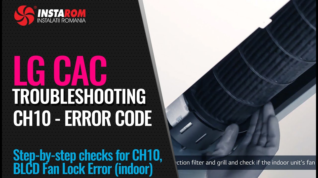Download CH10 error code | Troubleshooting LG Comercial air conditioning