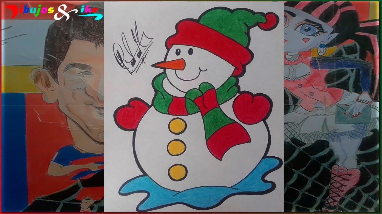 Pintando el Muñeco de Nieve | Painting Snowman - YouTube