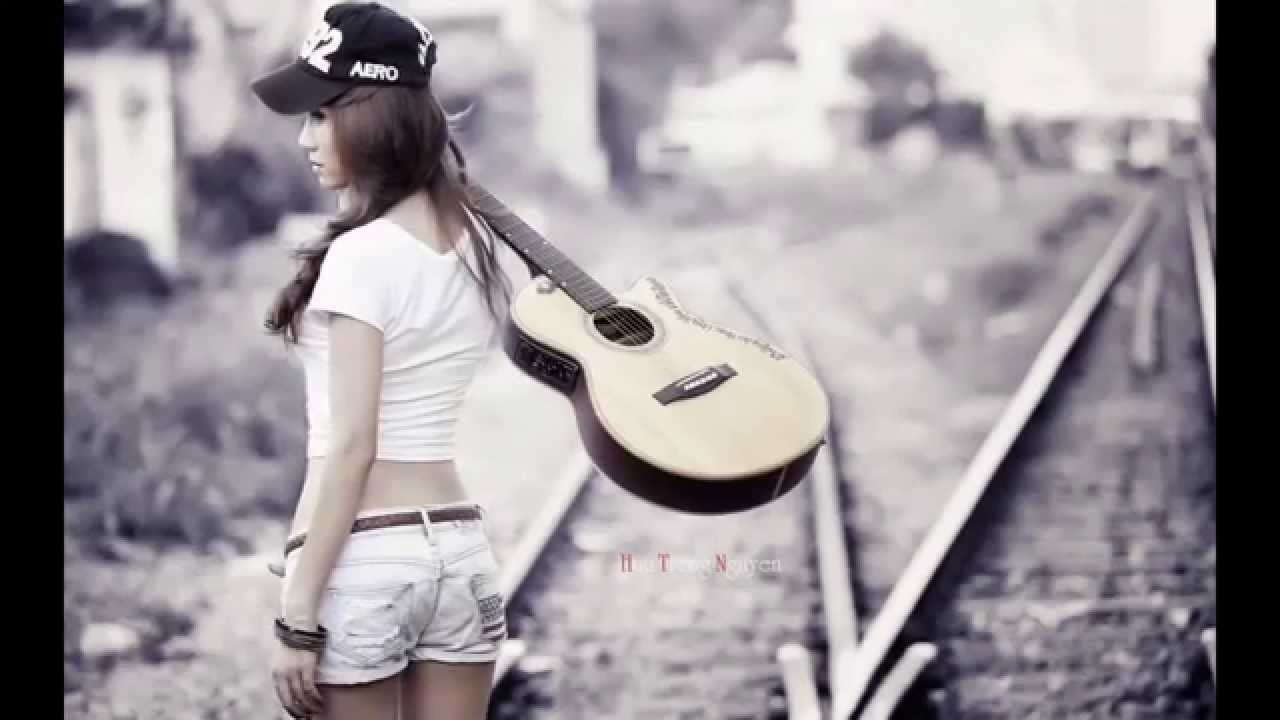 Hd Wallpaper Girl Playing Guitar Youtube