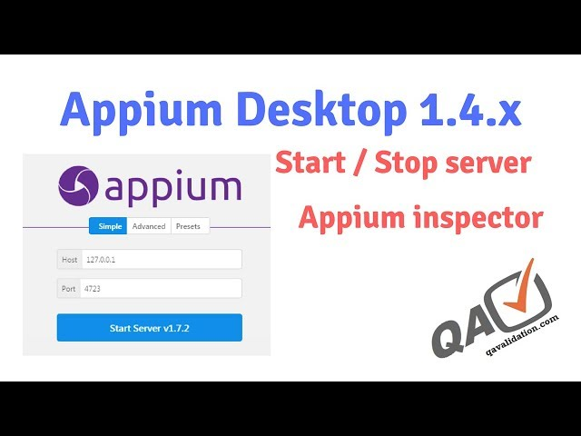 Appium desktop 1 4 x - appium inspector and server gui