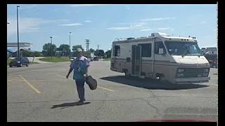 Panhandler Arrested, Camper Towed Away At Iron Mountain, Michigan WALMART | Jason Asselin
