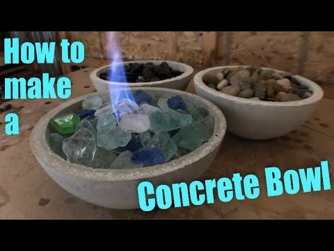 How to Make a Concrete Bowl and More!/Giveaway!