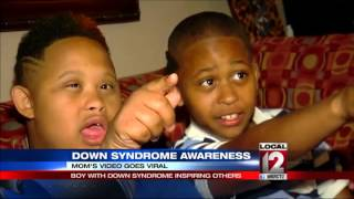 Mom's video goes viral: Boy with Down syndrome inspiring