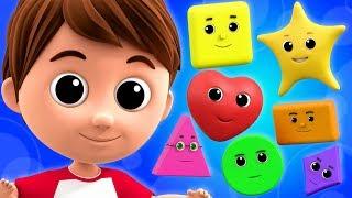 Shapes song  Nursery Rhymes  Kids songs  Childrens songs