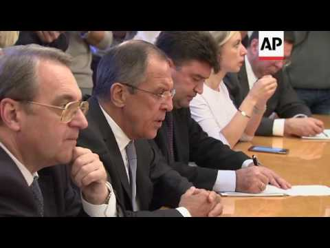 Lavrov meets UN Special Envoy on Syria