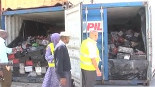 KRA intercepts illegal consignment of scrap batteries misdeclared as Kenyan tea