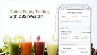 Online Equity Trading on DBS iWealth® Mobile App