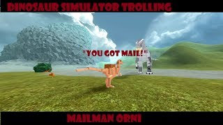 "Roblox Dinosaur Simulator Trolling ""YOU GOT MAIL"" + Throwback Features of Dinosim"