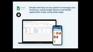 Advanced Inventory Management system using Glide Apps and Google sheets