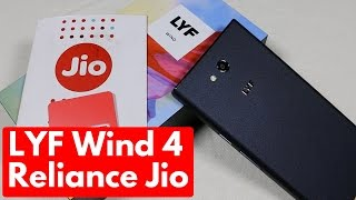 LYF Wind 4 Unboxing & Overview | Reliance Jio Features