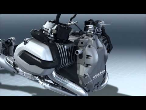 BMW Motorcycles R1200GS Water-Cooled Boxer Engine (internal view) Video