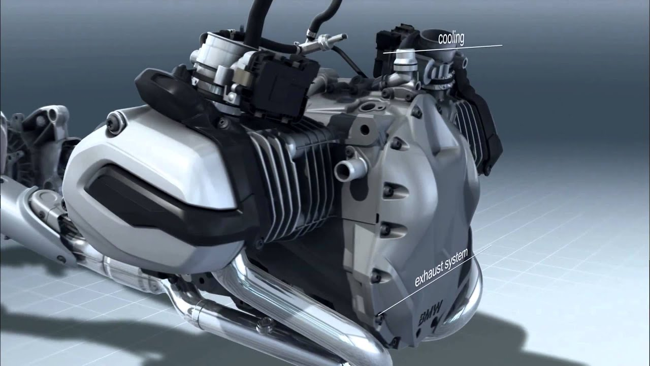 BMW Motorcycles R1200GS Water Cooled Boxer Engine (internal view