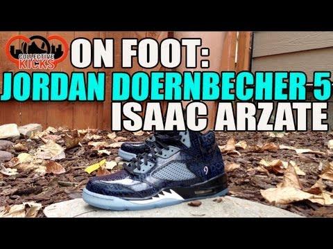 55eae4da959e On Foot Review  Air Jordan 5 (V) Doernbecher