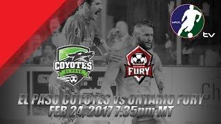 El Paso Coyotes vs Ontario Fury
