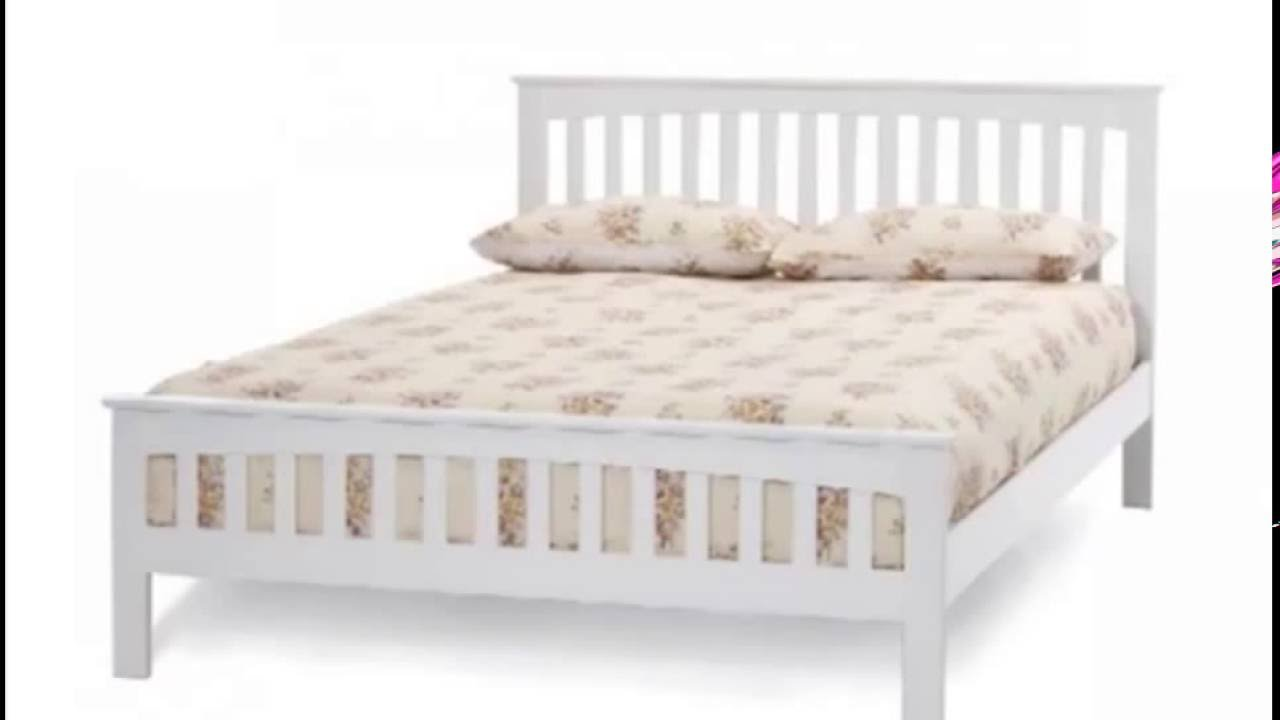 White wooden bed frame - White Bed Frames White Leather Beds White Wooden Beds Only On Shophbd Com