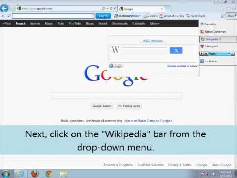 DictionaryBoss Toolbar: Wikipedia Search