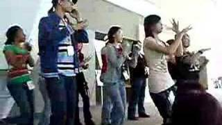 AAA Fans Practice Champagne Gold Dance