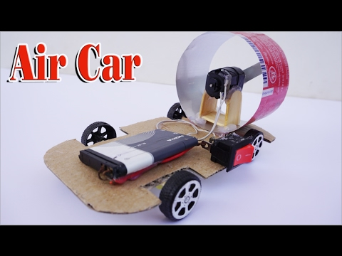 How To Make Air Car Run By Dc Motor Very Simple Youtube