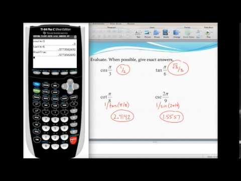 Evaluating trig ratios with a calculator (radian mode) - YouTube