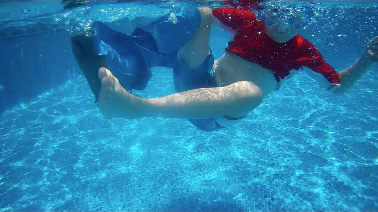 Dry Pro Waterproof Cast Cover Underwater View Of Swimming With It