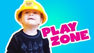 Seattle children's museum pretend play town for babies 🚁 Finger family kids nursery rhymes