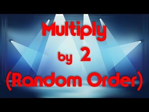 Multiply  2 Random Order  Learn Multiplication  Multiply  Music  Jack Hartmann