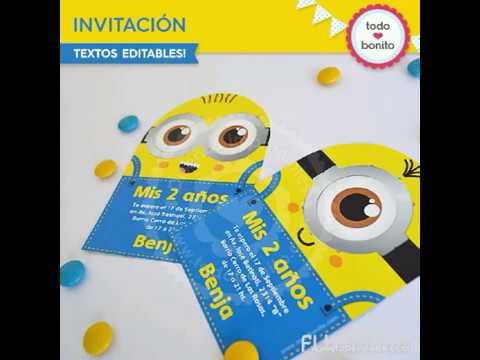 Tarjeta De Invitación De Los Minions