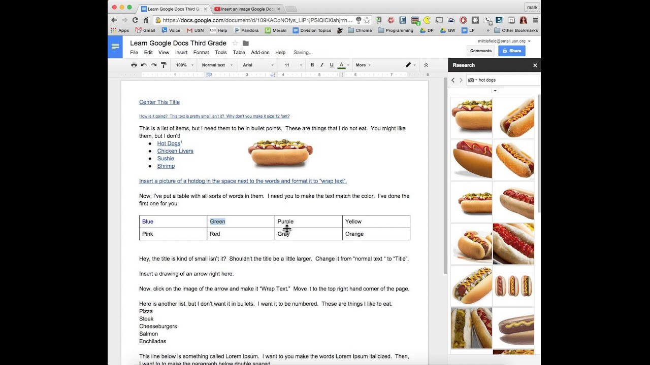 How to color in google docs - Change The Color Of The Text In Google Docs