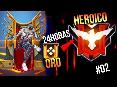 DESDE ORO A HEROICO En MENOS DE 24HRS FREE FIRE !!