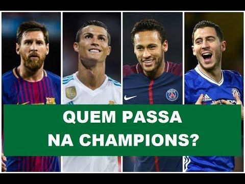 Real x PSG, Barça x Chelsea... Quem passa na CHAMPIONS?