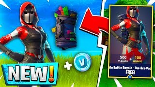 FREE ACE SKIN BUNDLE! How To Get Free Ace Skin In Fortnite Battle Royale