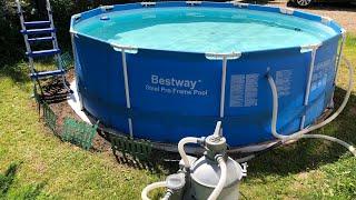 Лучший Фильтр для бассейна песчаный насос для каркасный бассейн BESTWAY или  NTEX на даче