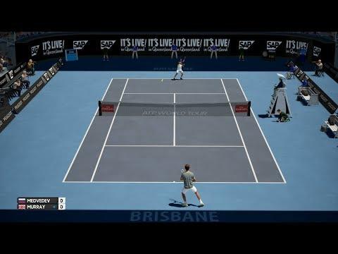 AO International Tennis - Daniil Medvedev vs Andy Murray - PS4 Gameplay
