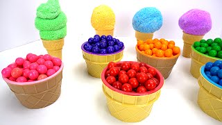 Surprise Toys in Colorful Ice Cream Cones and Gumballs!