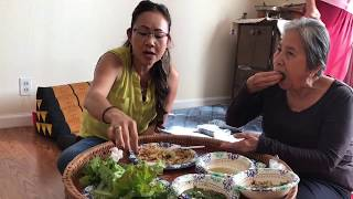 traditional laos food with family.