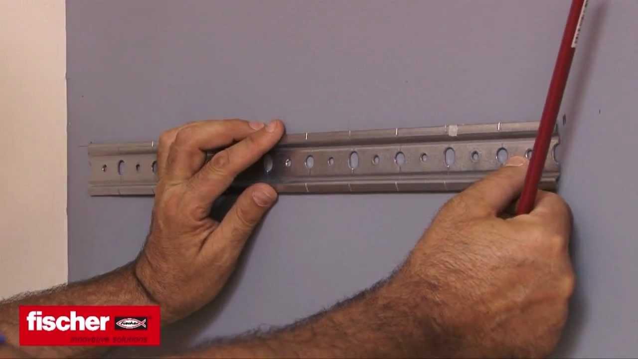 Come montare un pensile su cartongesso con tassello fischer HM - YouTube