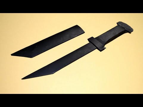 How to make a paper toy army knife