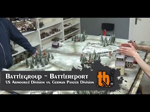Battlegroup Battlereport: US Armoured Division vs. German Panzer Division