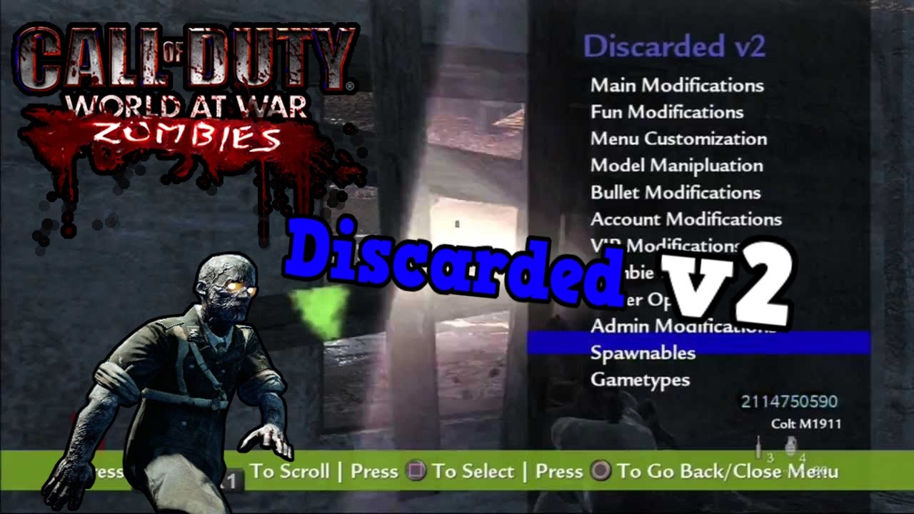 cod waw mod menu zombies pc