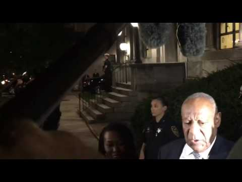 Bill Cosby speaks after Day 5 of deliberations in his sexual assault case